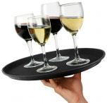 Поднос круглый для официантов 41 см с резиновым покрытием